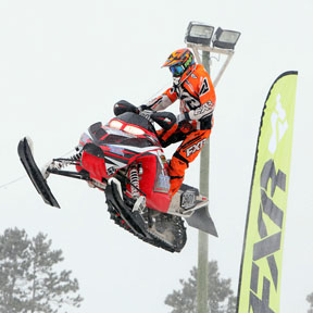Tyler Archambault snowmobile racing Pro Lite class