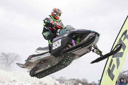 Scott Devowe races with West Michigan SnoX