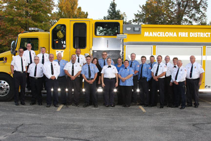 My other family; Mancelona Fire District volunteer firefighters at their annual banquet.